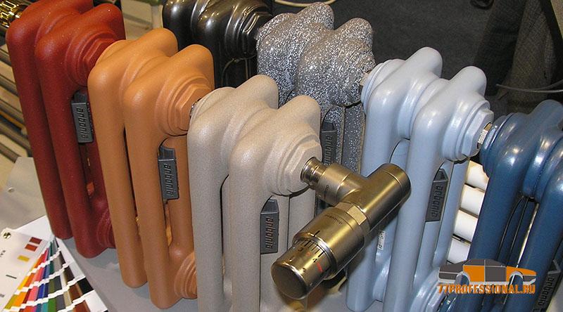 Покраска чугунных радиаторов отопления